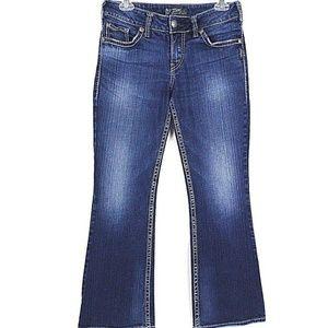 Silver Jeans Womens Suki Bootcut Dark Distressed